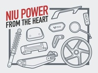 E-scooter parts