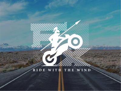 FX motorcycle club logo speed road motorcycle motorbike moto sketch line simple logotype logo illustration
