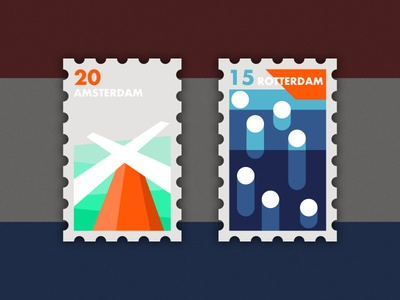Travel of Stamp—Holland