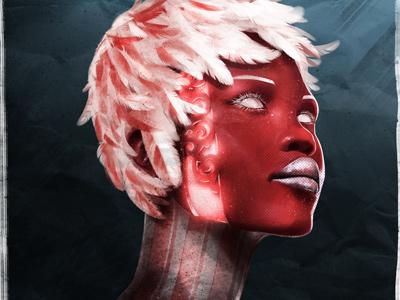 Magenta Cyborg Dame shot scott ferguson painting photoshop