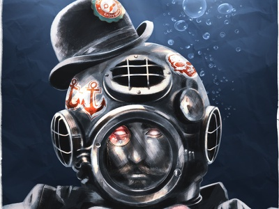 Ghastly Dapper Deep Sea Diver dapper diving helmet deep sea diver