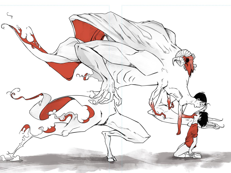 Postage Page Template Revised Double Spread Test graphic novel comic art scott ferguson childrens book illustration