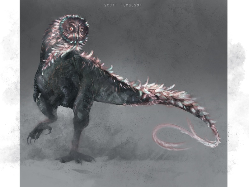 Owl Creature Concept Scott Ferguson concept art fantasy art illustration scott ferguson
