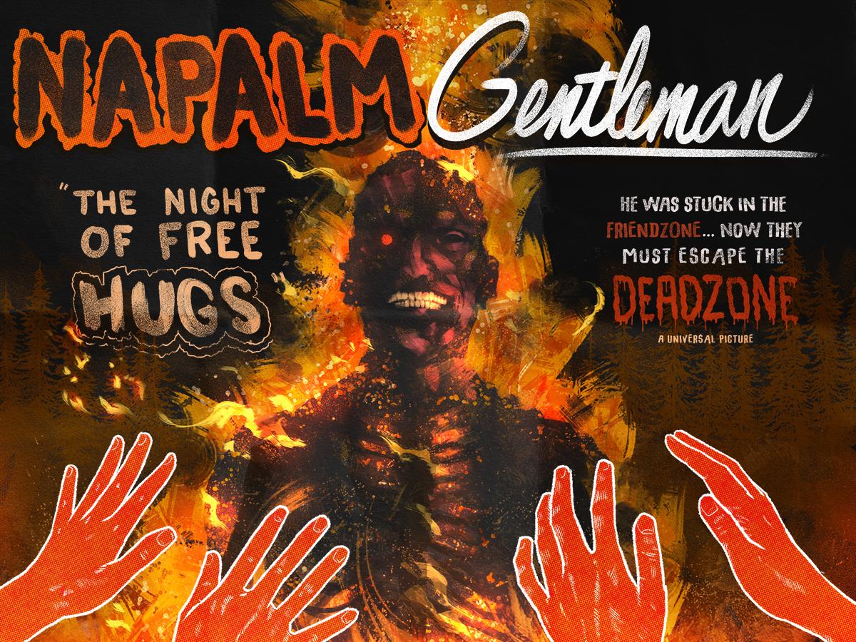 Napalm Gentleman scott ferguson vintage horror poster illustration
