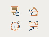 COVID Project Icon Set color illustration iconography vector line art logo identity icon branding design