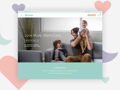 Owlet sketch website interface web design ux ui