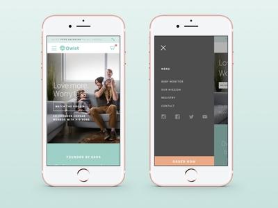 Owlet Mobile iphone baby digital responsive interface ux ui design mobile