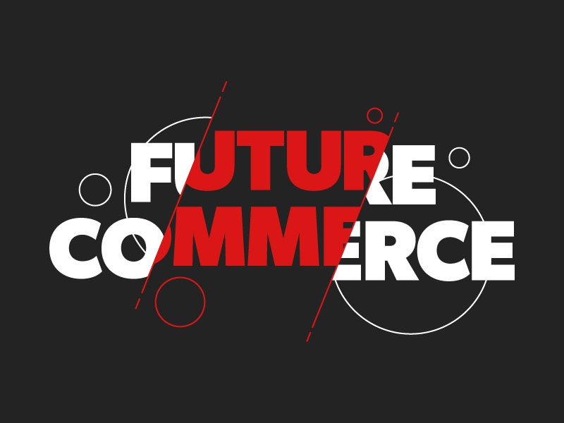 Future Commerce Type Treatment design logo vector line art typography