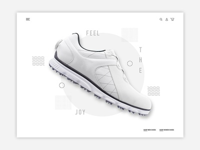 Golf Shoe Hero web design design interaction ux ui golf