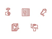 Chipotle Fundraising Icon Set