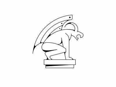 Gargoyle Illustration WIP
