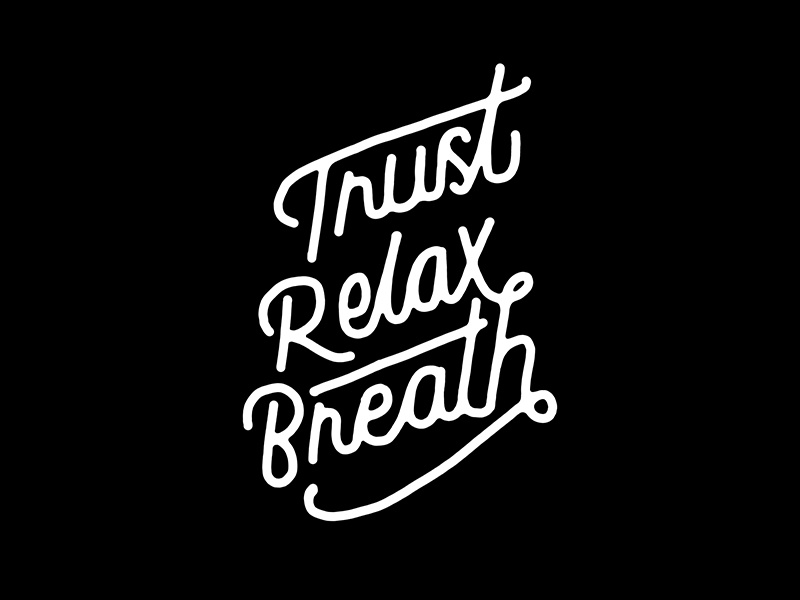 Typography Quotes Magnificent Trust Hand Lettering Typography Quotes By Konstantine Studio