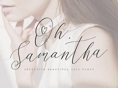 Oh Samantha - Seductive Chic Font calligraphy lettering vintage bundle wedding vector typography resources asset download typeface font