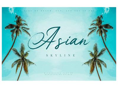 Asian Skyline - Casual Summer Font