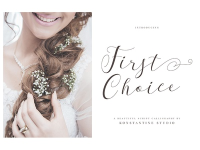 First Choice - Wedding Calligraphy Font