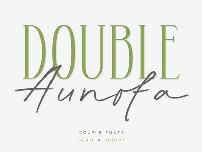 Double Aunofa - Couple Font