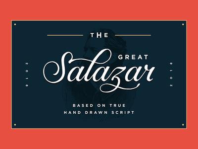 Salazar - Lettering Script Font
