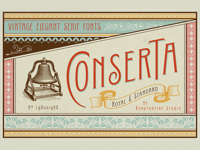 Conserta - Vintage Display Font
