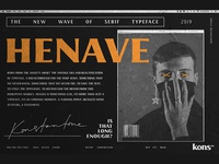 HENAVE - Strong Display Serif Font