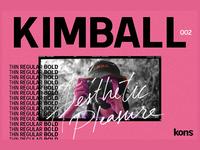 KIMBALL - 3 Weight Sans Serif Font