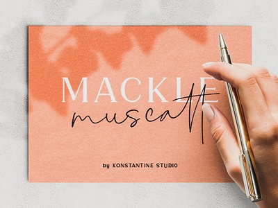 MACKLE | Serif & Handwriting Script Font
