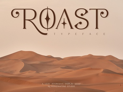 ROAST - Decorative Display Serif