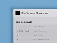 Mac Terminal Cheatsheet