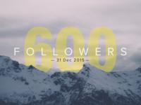 600 followers