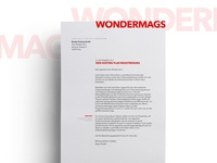 Wondermags Letterhead