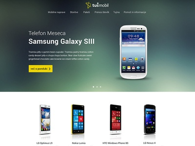 Tusmobil Homepage Redesign