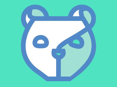 Teal Bear Logo oso logo bear teal blue