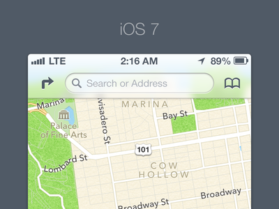 iOS 7 ios 7 apple iphone ui