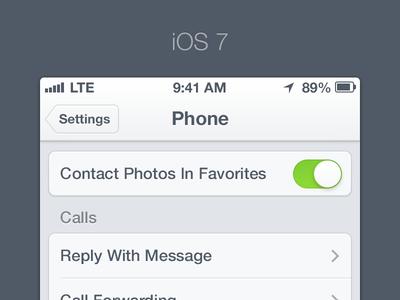 iOS 7 - Settings iphone ios ui 7 apple settings