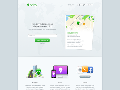 Addy addy location website