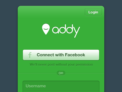 Addy Sign Up addy signup page