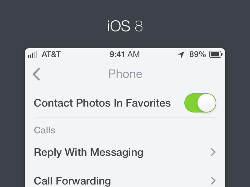 iOS 8 ios 8 iphone app ui