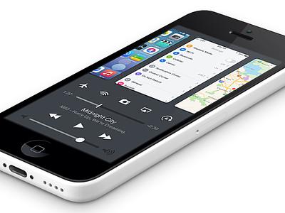 iOS 8 - Mission Control ios 8 iphone app ui mission control multitasking control center notification center