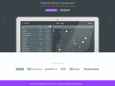 Trak trak addy local delivery management dashboard