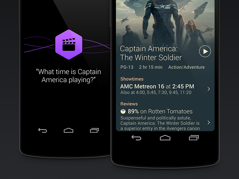 Voice Search android mobile app showtimes movie search voice