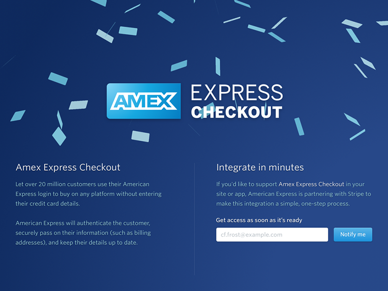 Amex Express Checkout >> Amex Express Checkout by Bill Labus | Dribbble | Dribbble