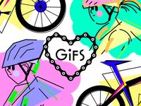 Biking GIFs Project Cover