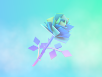 LoPoly Rose #2