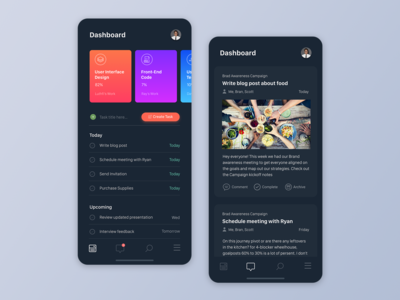 Asana Redesign with Dark Mode