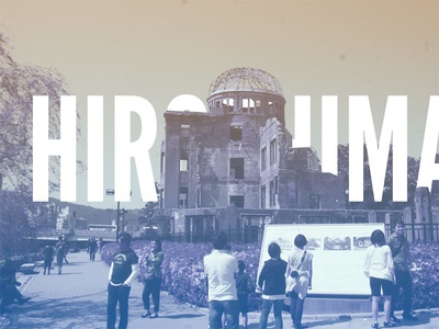 Hiroshima photography channels typography japan hiroshima series