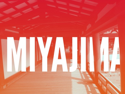 Miyajima photography channels typography japan miyajima itsukushima shrine series