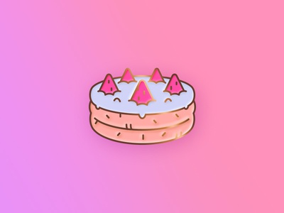 Enamel Pin Concept cake birthday cake enamel pin photoshop