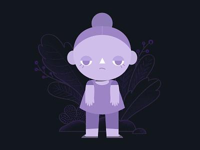 Jojo the purple doodle illustration design character