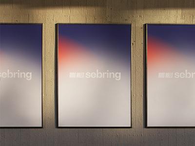 WEC Poster — 1000 miles of Sebring branding director art gradient poster art design graphic poster