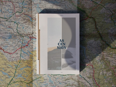 Ascension — Book Cover font typography photography map mountain journey trip print design print edition cover book aventure