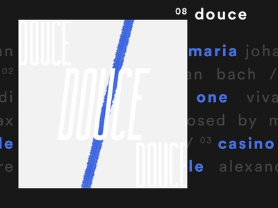 douce music spotify cover illustration